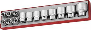 Serie bussole esagonali con attacco quadro 3/4