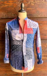 Camicia corea fantasia bandana