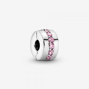 Clip Fascia rosa scintillante