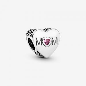 Charm a cuore rosa Mamma