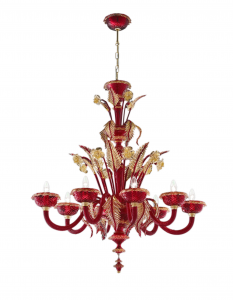 Lehar Red with Gold 24kt