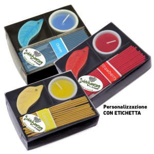 Set candele con incenso