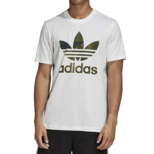 Adidas T Shirt Camouflage White da Uomo