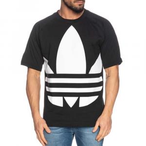 Adidas T Shirt Trifoglio Big Black da Uomo