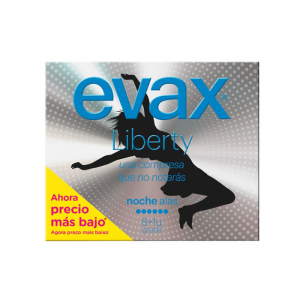 Evax Liberty Notte Normal With Wings Sanitary Towels 12 Units