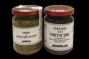 Crema di Aglio selvatico e Salsa alle ortiche - Az. Agr. S. Rovis - AVAGLIO (UD)