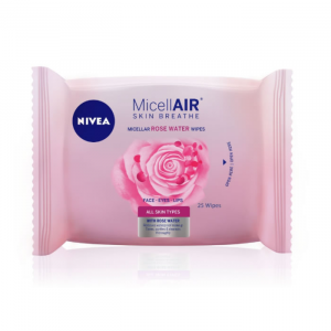 Nivea Micellair Rose Water Gentle Cleansing Wipes 25 Units