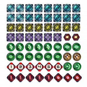 Star Wars X-Wing V 2.0 64 Tokens Set