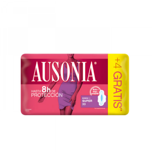 Ausonia Super With Wings Sanitary Towels 30 Units