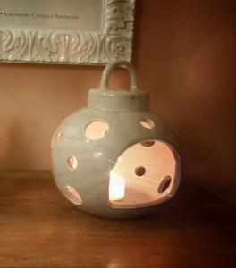 Lanterna ceramica Toscana Montelupo tortora media