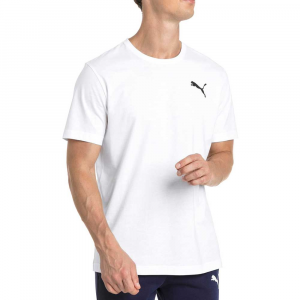 Puma T Shirt Basic White da Uomo