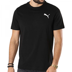 Puma T Shirt Basic Black da Uomo