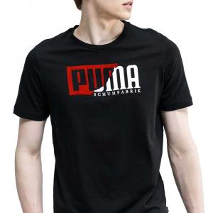 Puma T Shirt Logo Black da Uomo