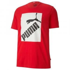 Puma T Shirt Logo Stampa Red da Uomo