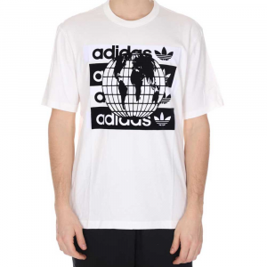 Adidas T Shirt White/Black da Uomo