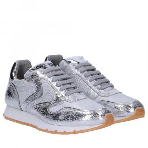 Voile Blanche Julia sneaker crack argento
