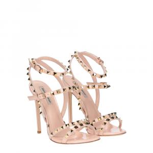 Gianni Renzi Couture sandalo vernice rosa cipria