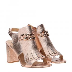 Gianni Renzi Couture sandalo in pelle oro rosa
