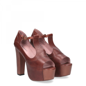 Jeffrey Campbell Foxy tan leather