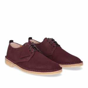 Clarks Original Desert London Burgundy Suede