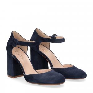 Il laccio sandaliera camoscio blu