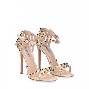 Gianni Renzi Couture sandalo vernice beige