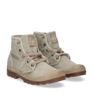 Palladium Pallabrouse canvas dk khaki putty