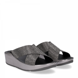 fitflop tm slide pewter crystall