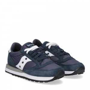 SAUCONY JAZZ LOW NAVY WHITE