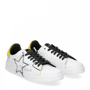 Nira Rubens daiquiri DAST178 sneaker bianca stella yellow writer