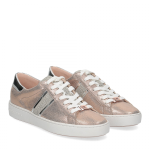 Michael Korskeaton stripe sneaker leather rose gold