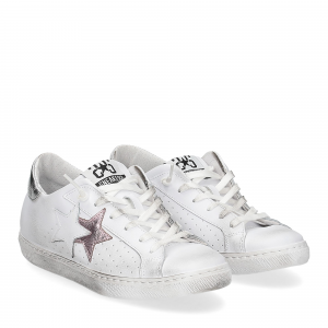 2Star 2600 sneaker low bianco rosa