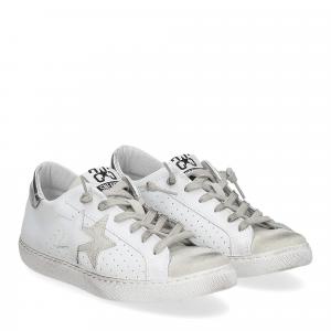 2Star 2609 sneaker low bianco nero