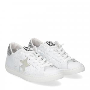 2Star 2610 sneaker low bianco argento