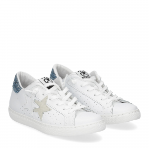 2Star 2611 sneaker low bianco celeste