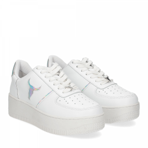 Windsor smith Rosy white silver holographic