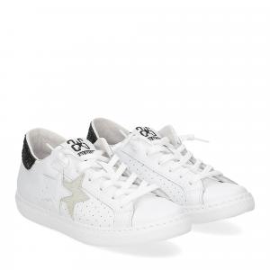2Star 2657 sneaker low bianco nero