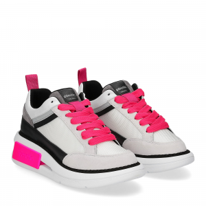 Panchic P07W suede purity black fuxia fluo