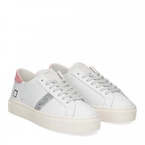 D.A.T.E. Vertigo calf white-pink