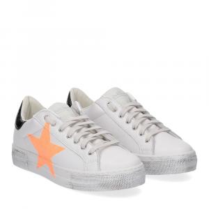 Nira Rubens Martini sneaker bianca stella orange vintage black