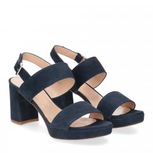 Il laccio Sandalo E2700 camoscio blu