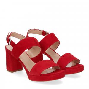 Il laccio Sandalo E2700 camoscio rosso