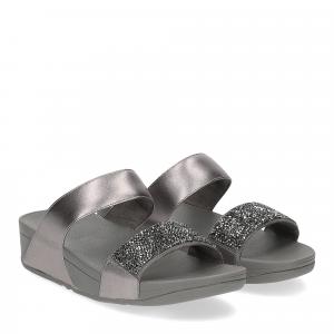Fitflop Sparklie Crystal Slide pewter