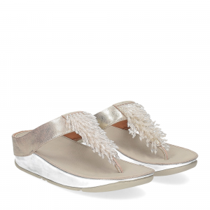 Fitflop Rumba toe thong sandal metallic silver