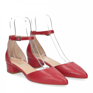 Il Laccio décolleté sandaliera pelle rossa