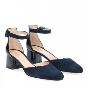 Andrea Schuster sandaliera camoscio blu