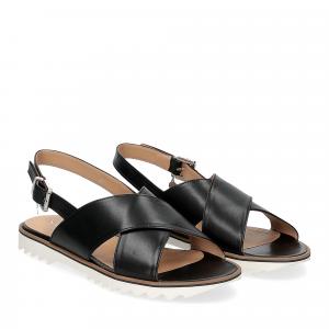 Siton sandalo pelle nera