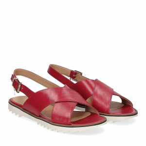 Siton sandalo pelle rossa