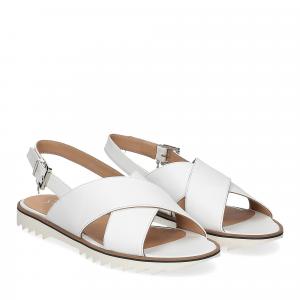 Siton sandalo pelle bianca