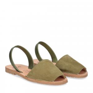 Ria Menorca sandalo minorchina camoscio verde